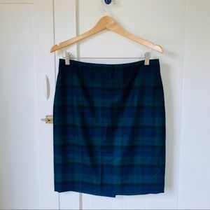 "J Crew Plaid ""The Pencil Skirt"""